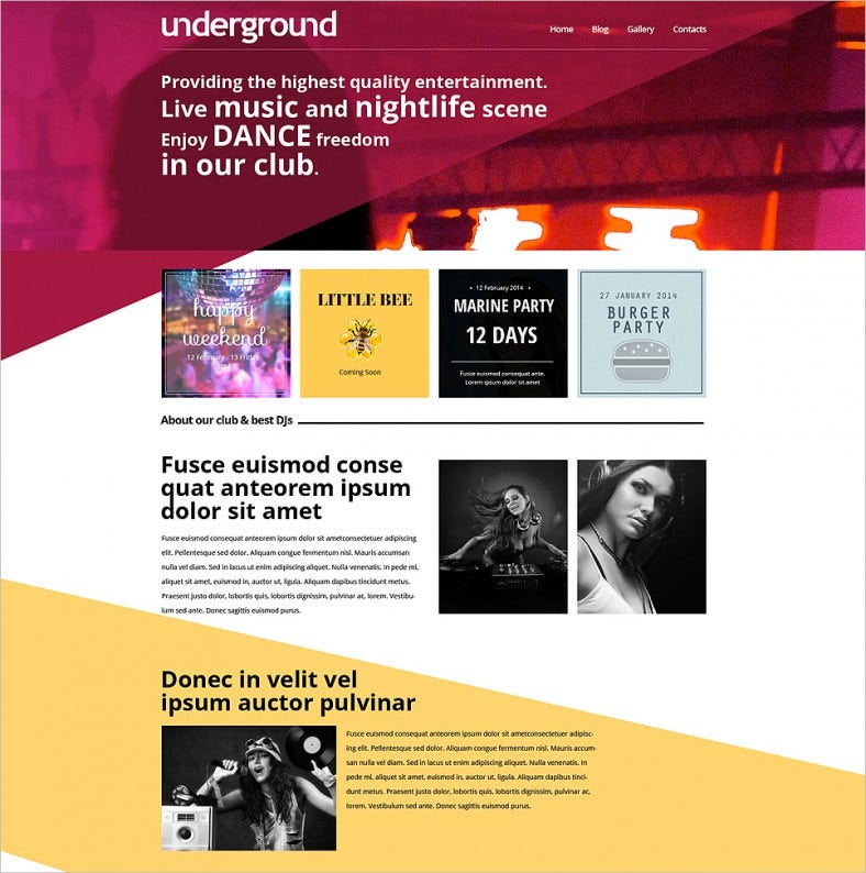 night club drupal template 788x794