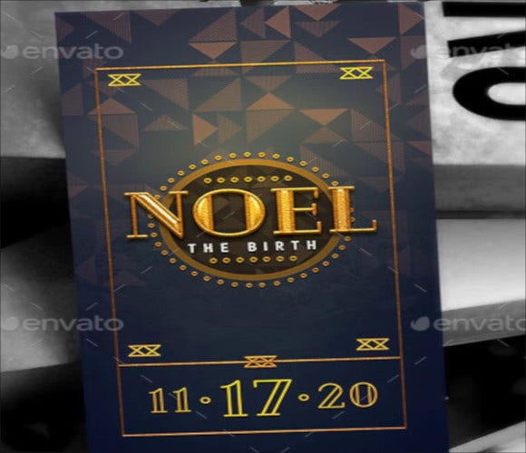 noel christmas gala bookmark template