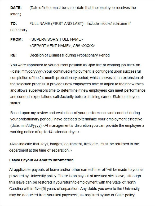 17  sample disciplinary letter templates