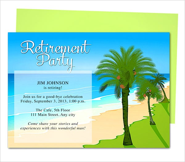 Retirement Party Invitation Template   Free Psd Format