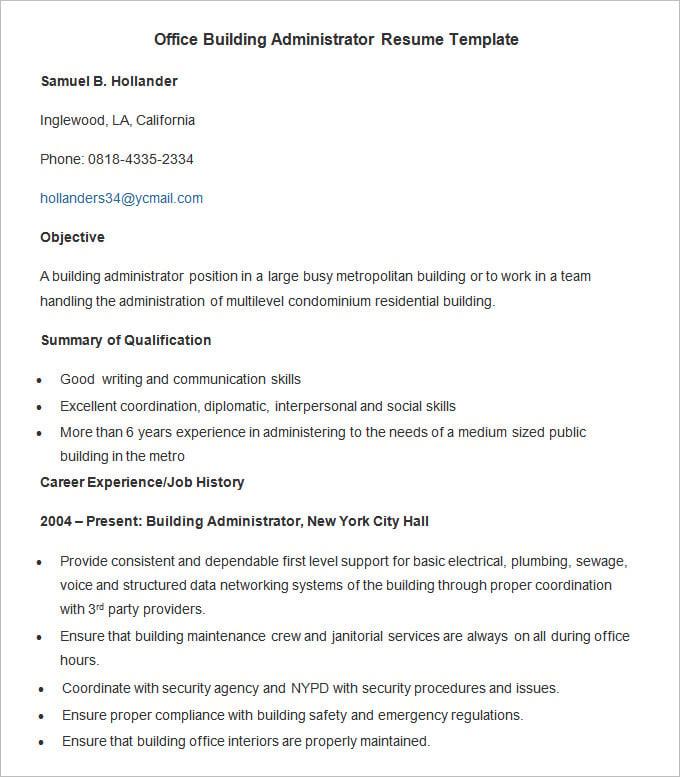 hvac resume sample building resume format download pdf building resume help with within sample for facilities - Resume Format Samples