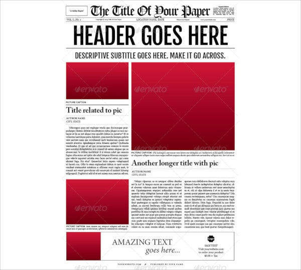 old style newspaper template1