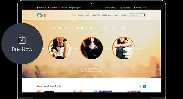one – ecommerce psd template