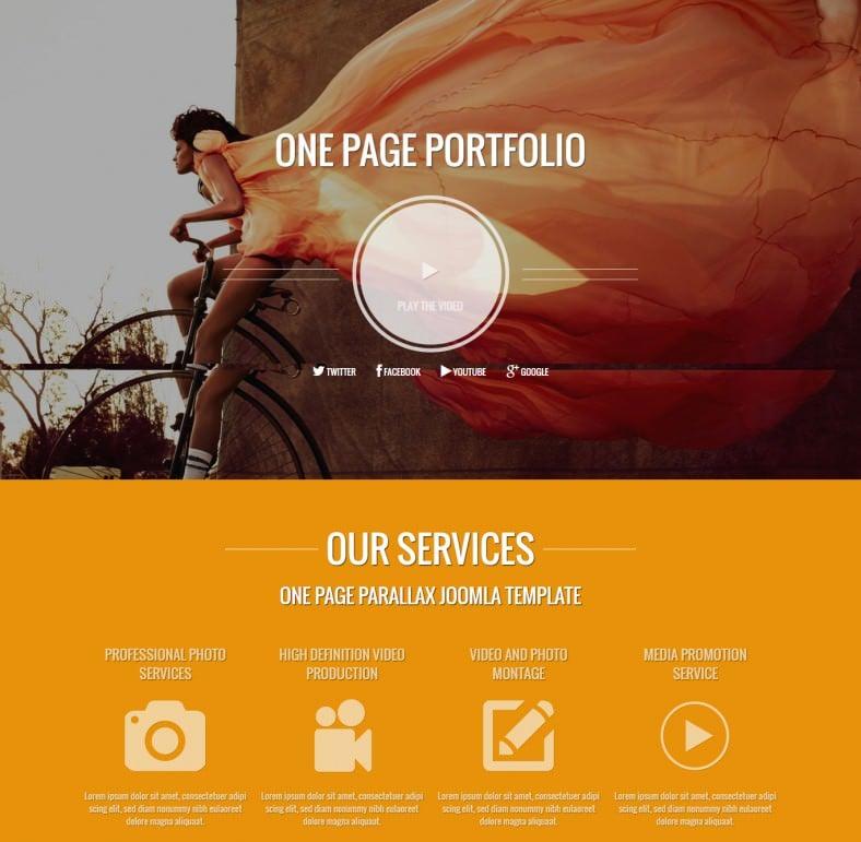 Drupal One Page Portfolio Theme
