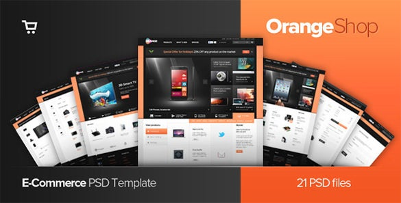 orange – ecommerce psd templates