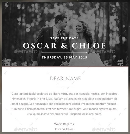 oscar wedding formal invitation template