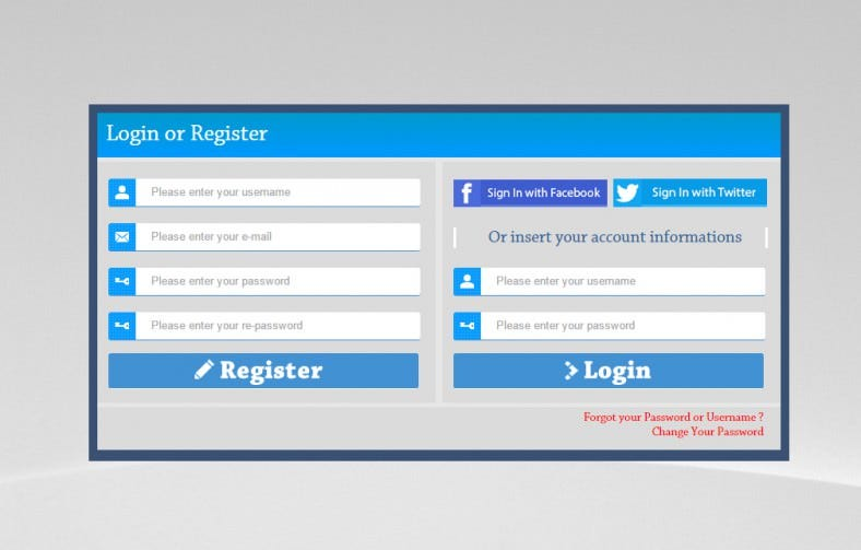 6 best php login form templates free premium themes for Php login templates free download
