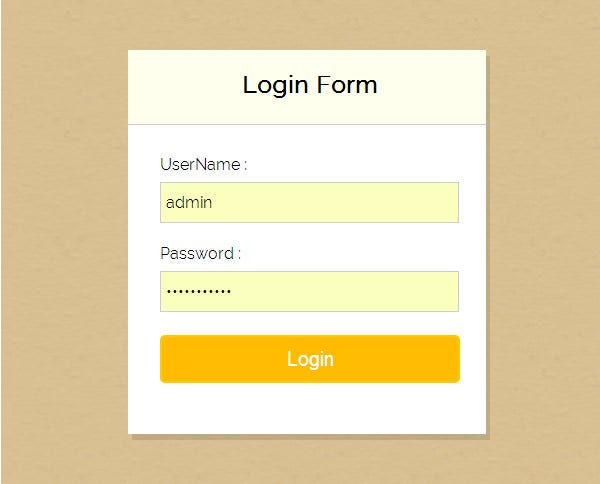 8  free php login form templates to download