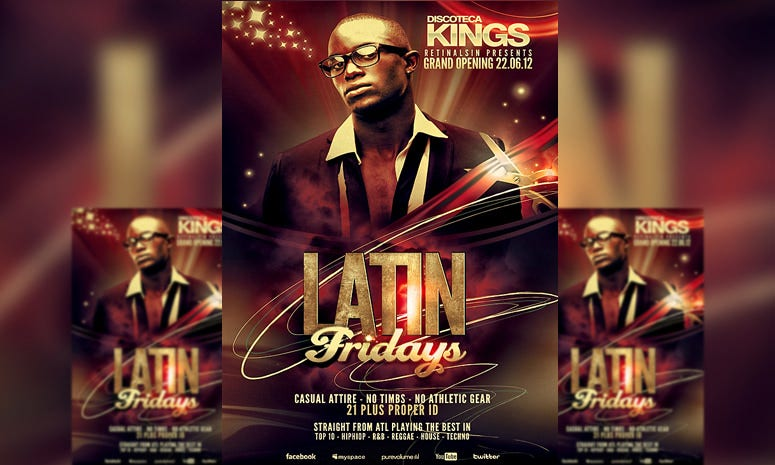 psd latin fridays flyer template