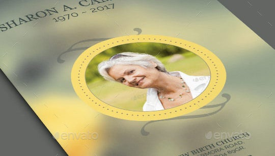 psd obituary template featured image