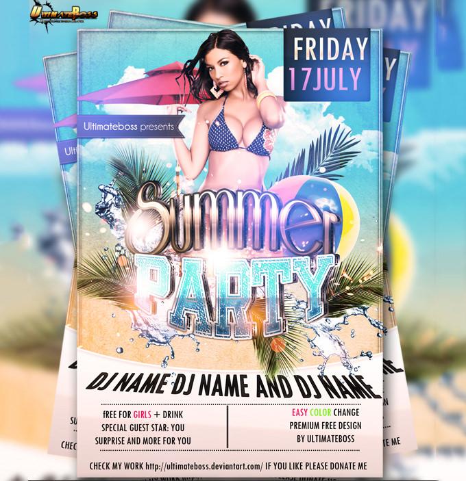 psd premium free summer flyer1