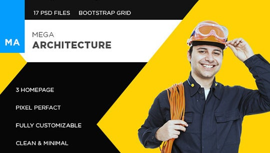 psd template for architects featured image