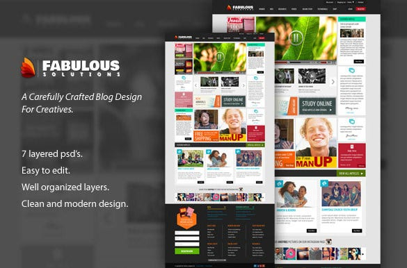 psd template for newsmagazine