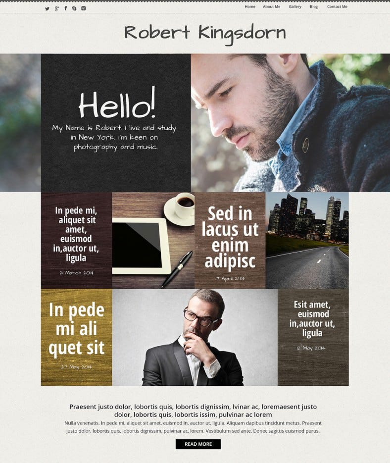 personal career grunge style responsive wordpress theme 75 788x935