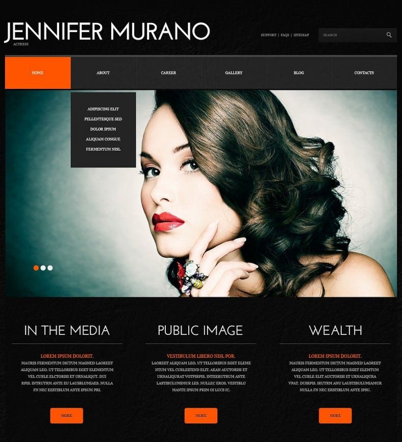 personal page dark black responsive wordpress theme 751 788x866