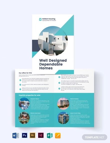 personal realestate agent agency bi fold brochure template