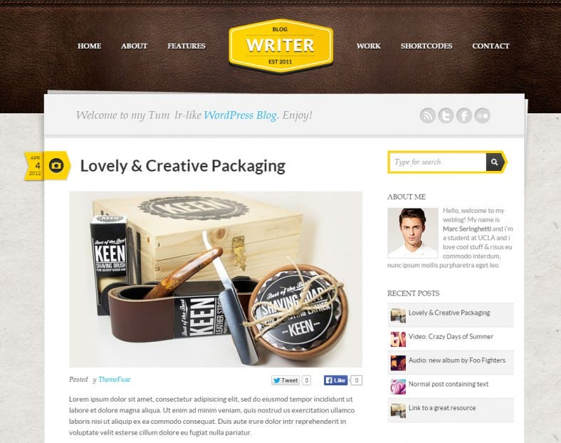 personal wordpress theme 788x622