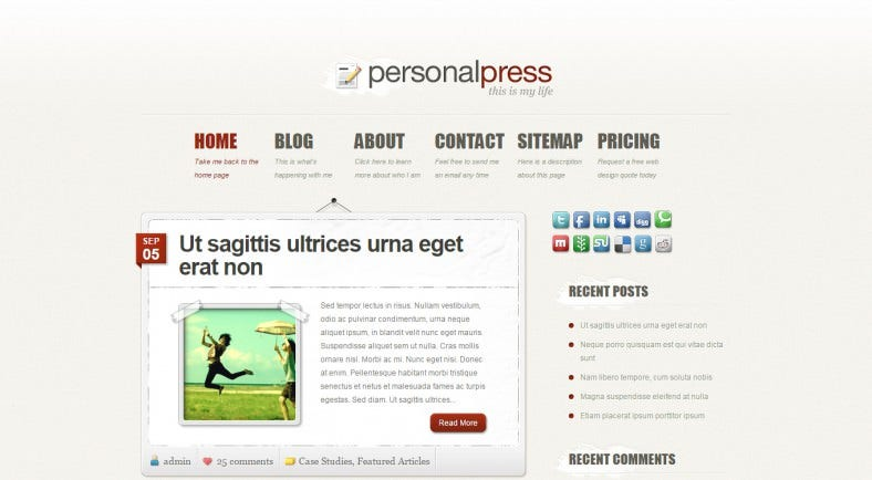 PersonalPress-WordPress-Theme
