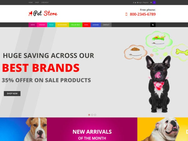 pet store wordpress woocommerce theme