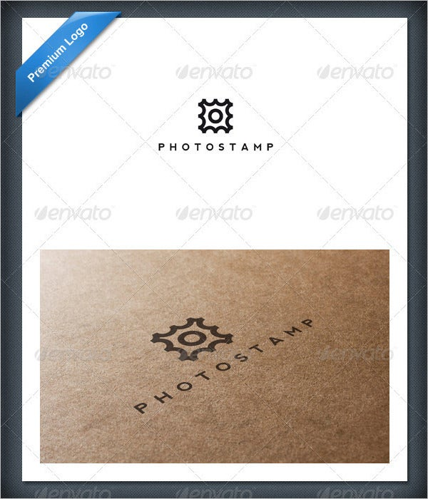 photo stamp logo template