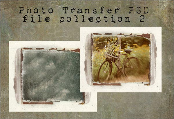 photo transfer psd files template