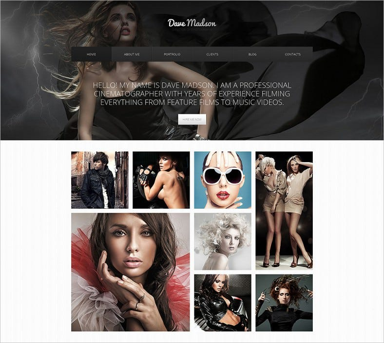 photographer portfolio drupal template 788x705