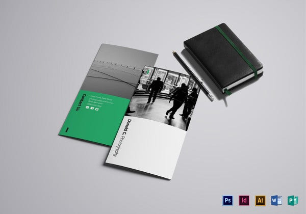 photography portfolio brochure illustrator template