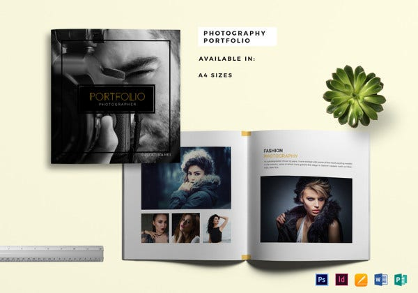 photography portfolio catalog indesign template