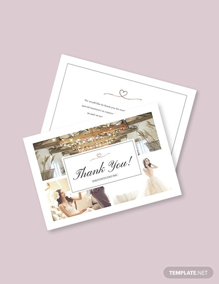 photography thank you card template