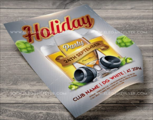 photoshop holiday party flyer template