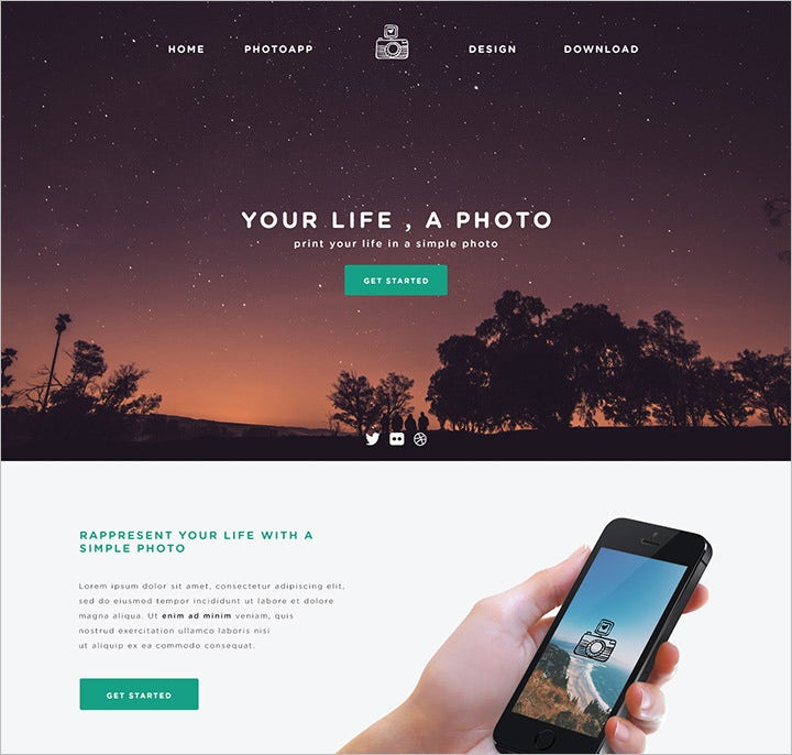phototime – psd website template