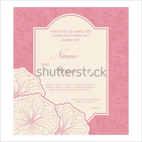 pinky wedding menu template
