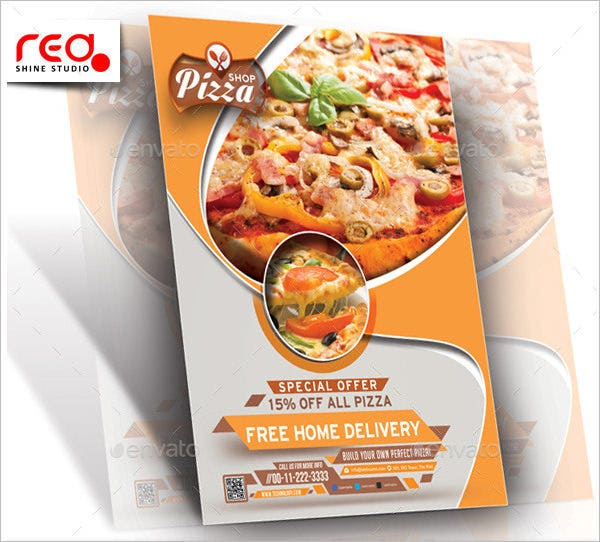 pizza menu card template