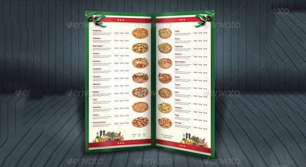 pizza menu template download