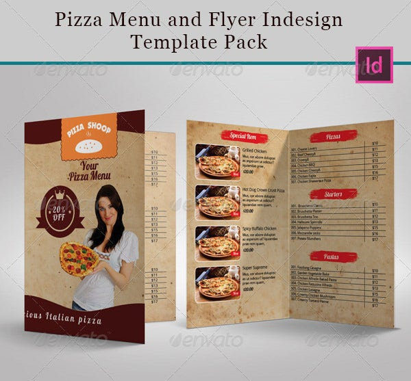 pizza menu template pack