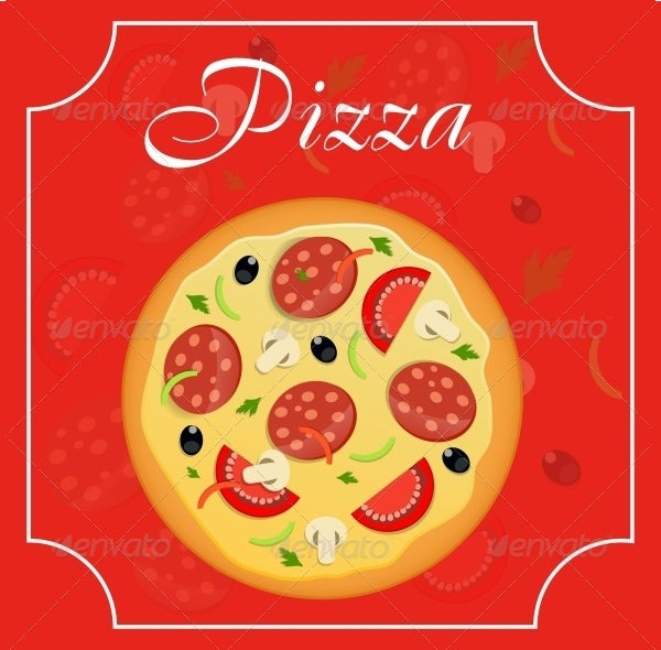 pizza menu template vector illustration download