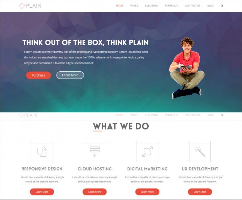 plain multpurpose wordpress business template 45 788x650
