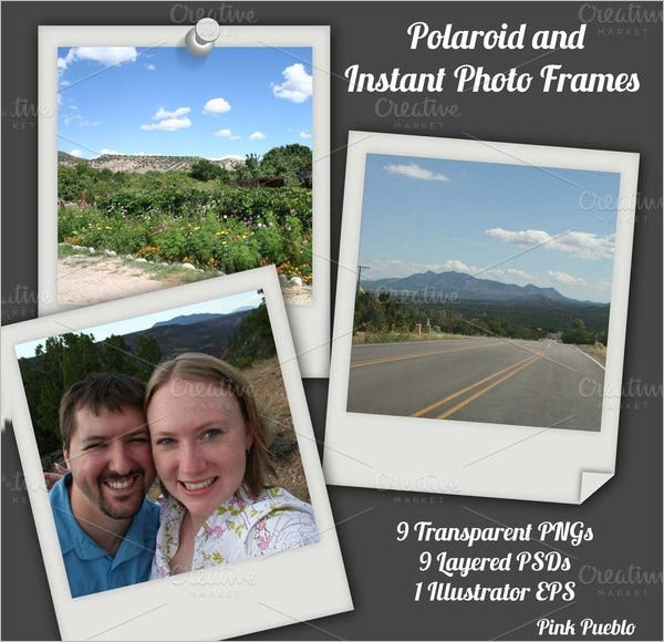 polariod instant photo frames template