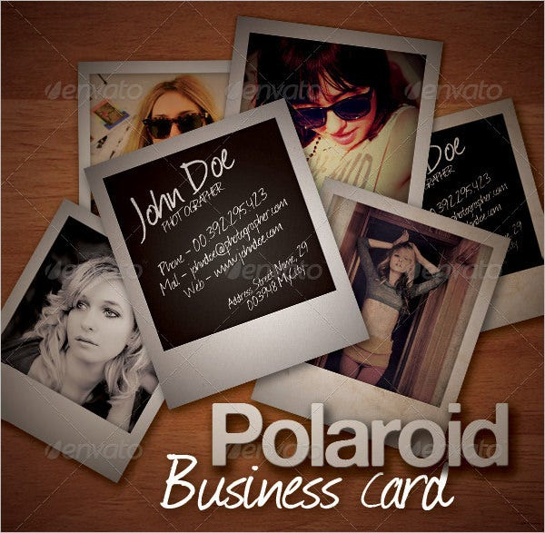 polaroid business card template