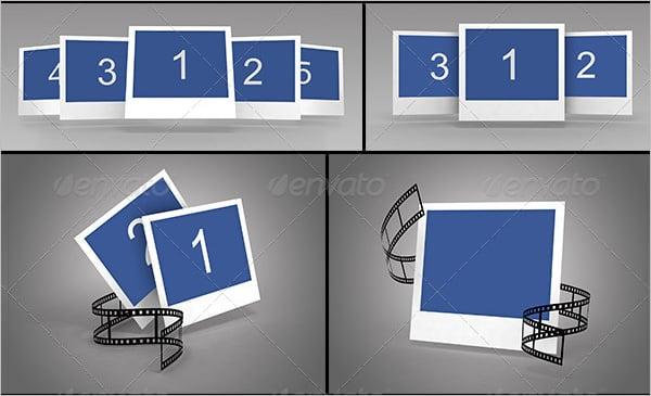 polaroid mock up bundle template