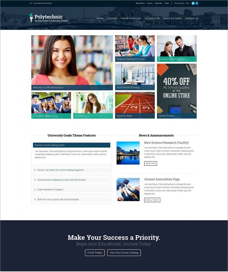 polytechinc student college wordpress theme – 58 788x940