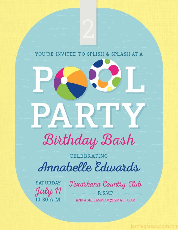 22+ Pool Party Invitation Templates | PSD Invitations | Free & Premium ...