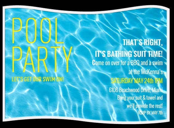 free swimming party invitations thevillas co
