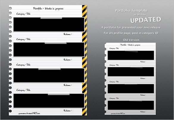 portfolio template psd