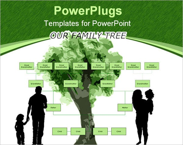 powerpoint family tree templates  free  premium templates, Powerpoint