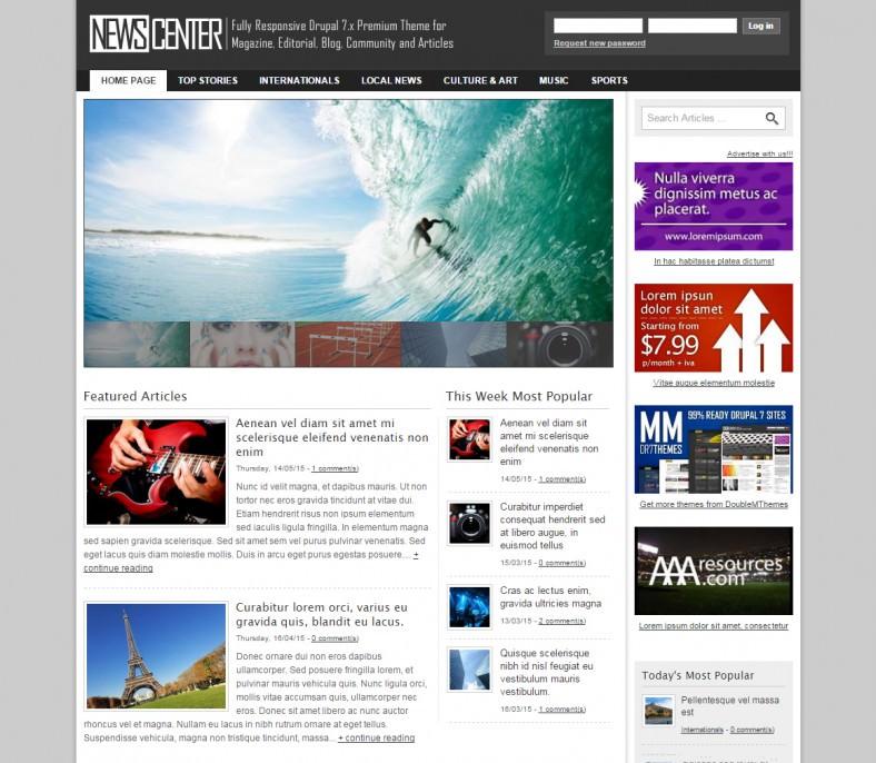 8 Best News Magazine Drupal Templates & Themes | Free & Premium ...