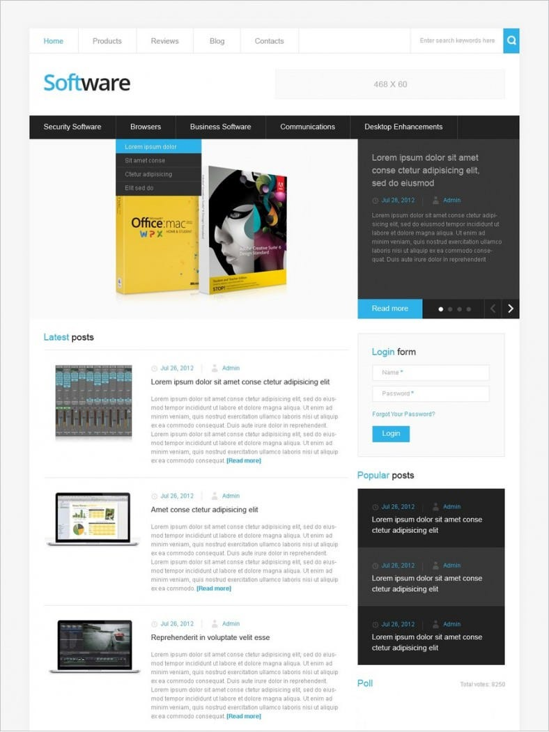 premium software company drupal template 66 788x1051