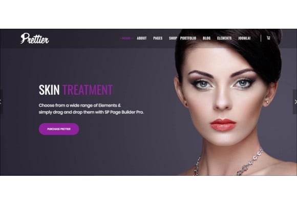 prettier beauty salon spa joomla template