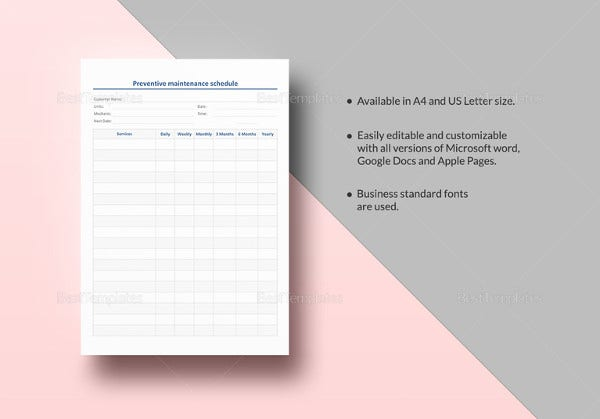 preventive-maintenance-schedule-template