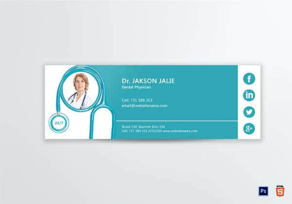 printable dental care email signature